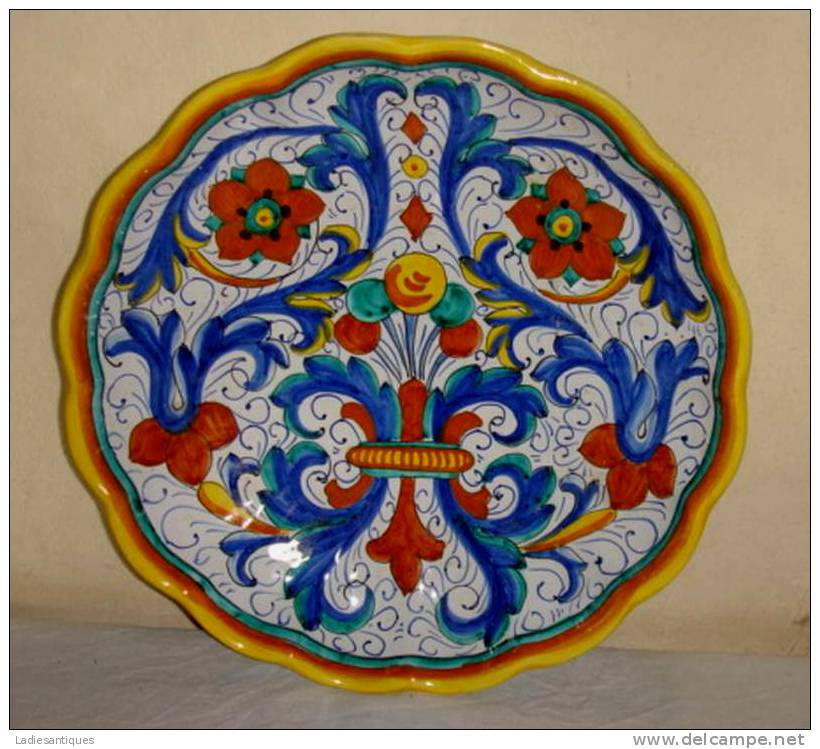 Deruta Ricco  Wall Plate - Sierbord - Assiette à Suspendre - AS 1767 - Deruta (ITA)