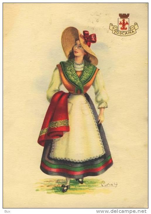 TOSCANA  COSTUMI  COSTUME VIAGGIATA COME DA FOTO ITALY ITALIE - Costumi