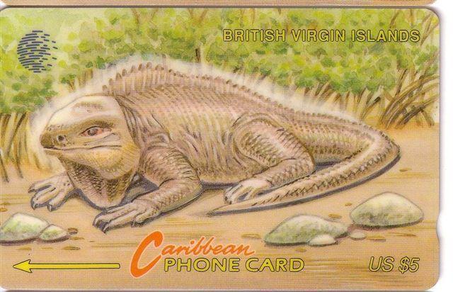 IGUANA ( British Virgin Islands - Code 19CBVB  ) *** Iguane - Leguan * Lizard Lézard Lagarto Echse Eidechse Lucertola * - Vierges (îles)