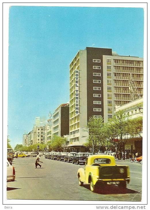 MOÇAMBIQUE MOZAMBIQUE - MAPUTO - LOURENÇO MARQUES VOITURES CPA - STREET VUE & TAXI OLD POSTCARD - Mozambique