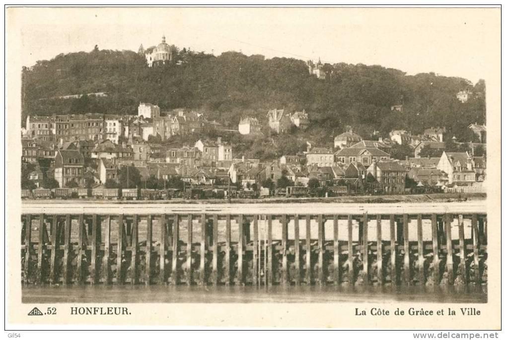 Cad 52 Honfleur   La Côte De Grace  Et La Ville, Jb134 - Honfleur