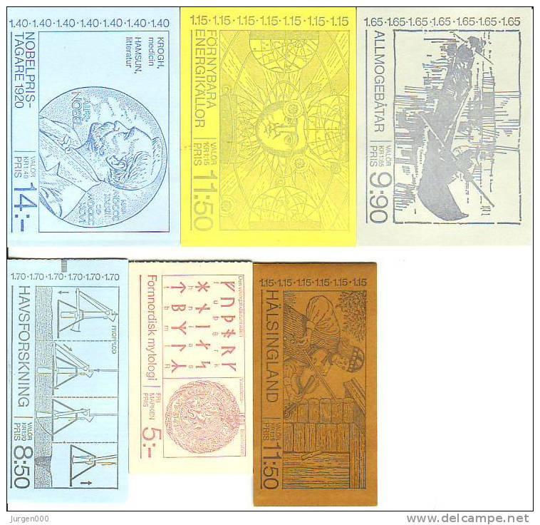 MH74, MH77, MH78, MH79, MH81, MH83 **, Michel = 21 Euro (Z18929) - Carnets