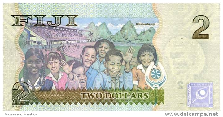 FIJI   2   DOLARES  $    2.007     PLANCHA/UNC/SC     DL-6316     J - Fidji