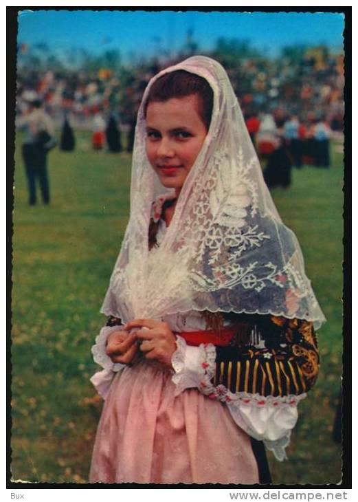 COSSOINE  COSTUMI SARDI  COSTUME VIAGGIATA COME DA FOTO ITALY ITALIE - Costumi