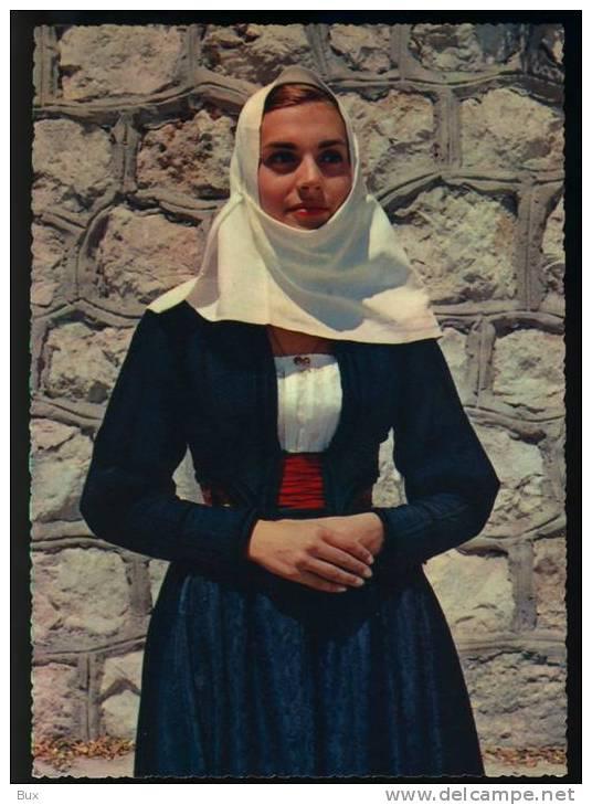 SEDILO CAGLIARI  COSTUMI SARDI  COSTUME NON VIAGGIATA COME DA FOTO ITALY ITALIE - Costumi
