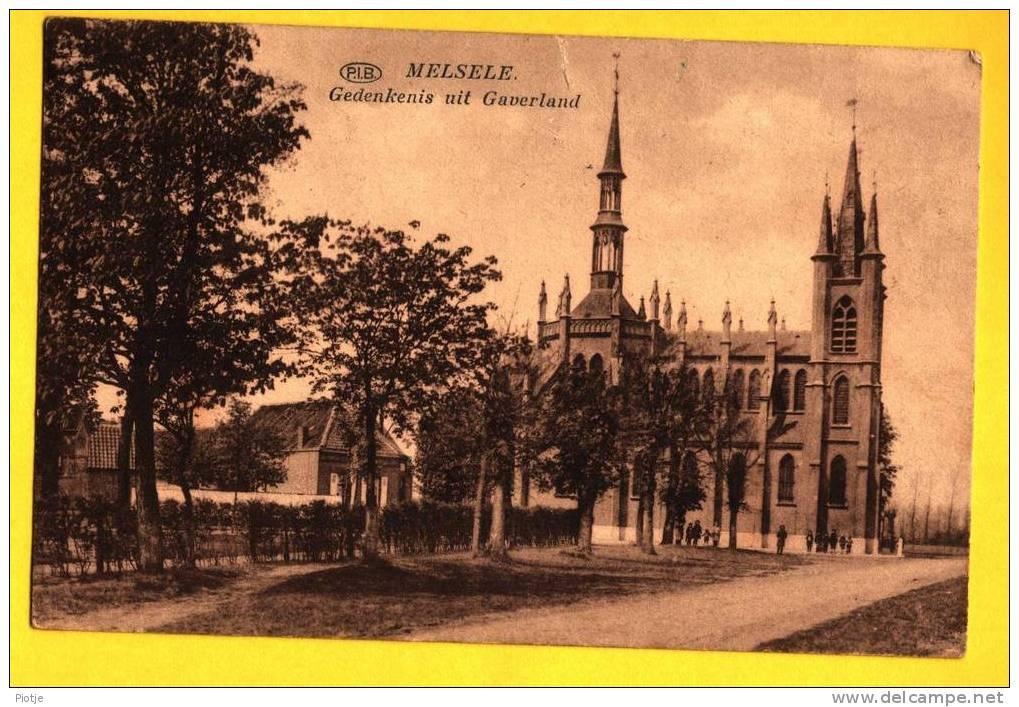 * Melsele (Bij Beveren Waas) * Oost Vlaanderen, (PIB) Gedenkenis Uit Gaverland, Souvenir, Chapelle, Old, Kapel - Beveren-Waas