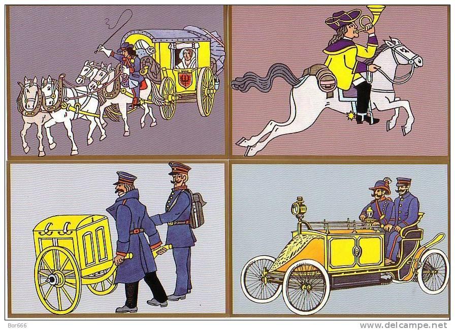 GOOD GERMANY POSTCARD´S Set  - Deutsches Post 500 - Post & Briefboten