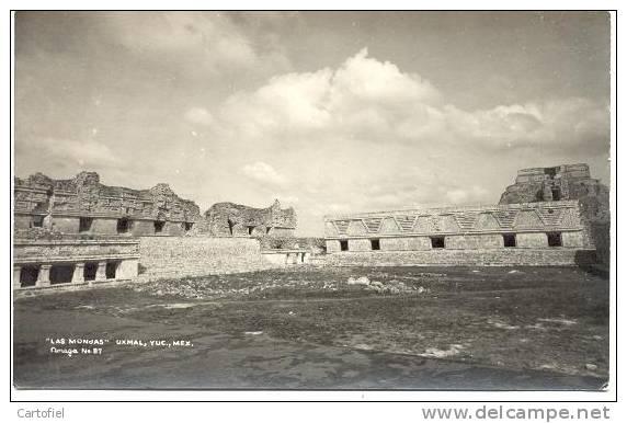LAS MONDAS - UXMAL - YUC - PHOTO CARTE - Mexique
