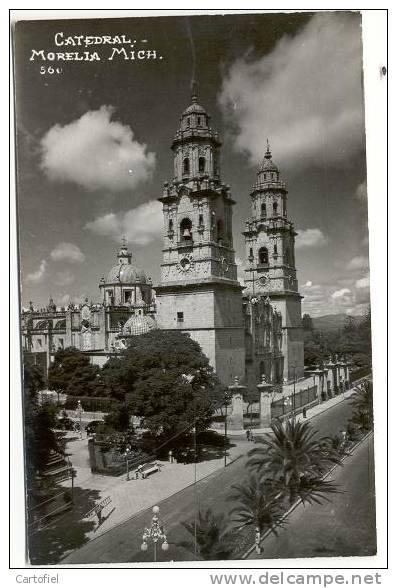 CATEDRAL MORELIA MICH  -- PHOTO CARTE - Mexique