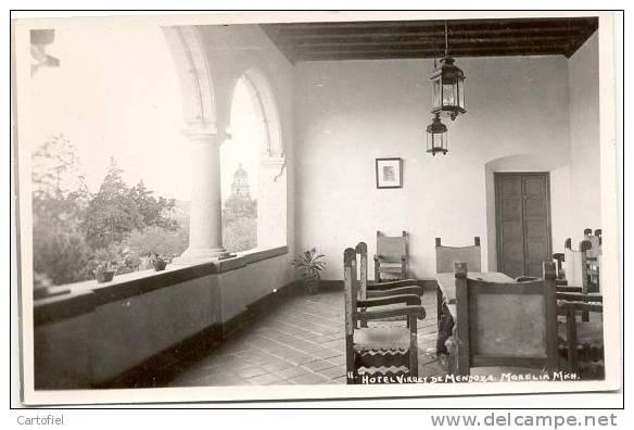 HOTEL VIRREY DE MENDOXA - MORELIA MICH- PHOTO CARTE - Mexique