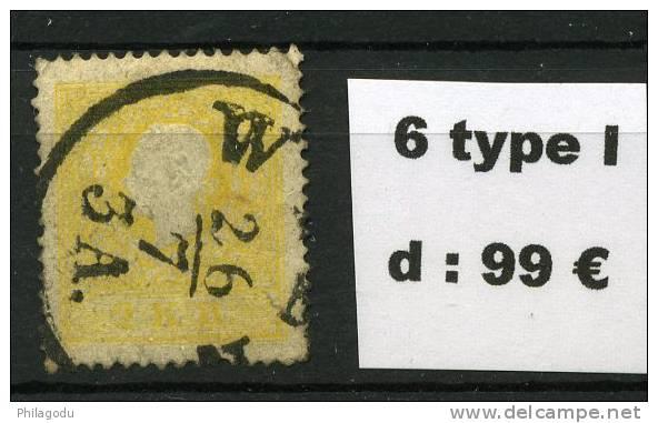 Gelb 6  Type I     Gestempeld  26/7/   3A    Schon - Gebraucht