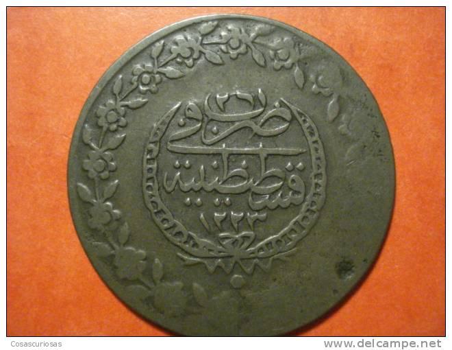 1014 TURKEY TURQUIA  5 PIASTRAS      AÑO / YEAR   1223 EGIRA CIRCA 1810 MBC/VF - Turquie
