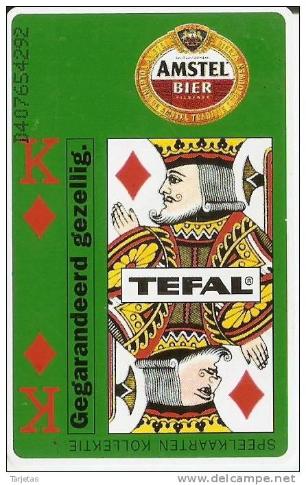 TARJETA DE HOLANDA  DE LA CERVEZA AMSTEL (BEER) - Alimentación
