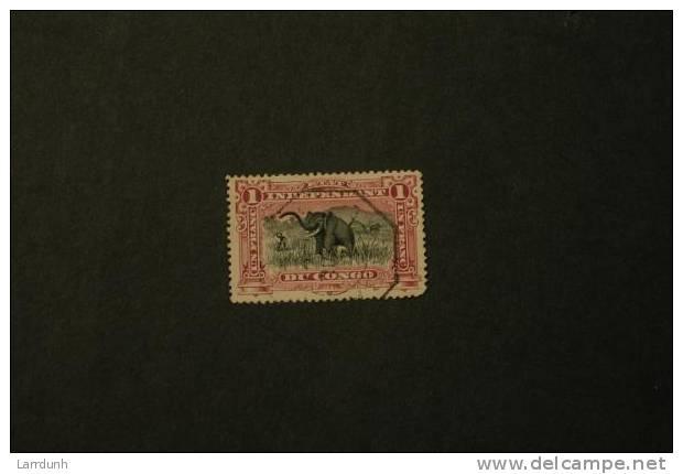 Belgian Congo 24a Elephant Used VF 1894-1901  A04s - Congo Belge