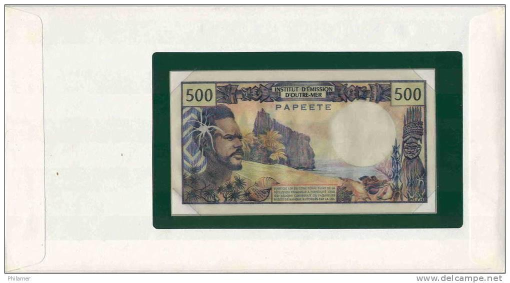 Polynesie Polynesia Billet Note Monnaie 500 Fcfp IEOM Mention Papeete, Neuf Dans Encart Special, UNC - Papeete (French Polynesia 1914-1985)
