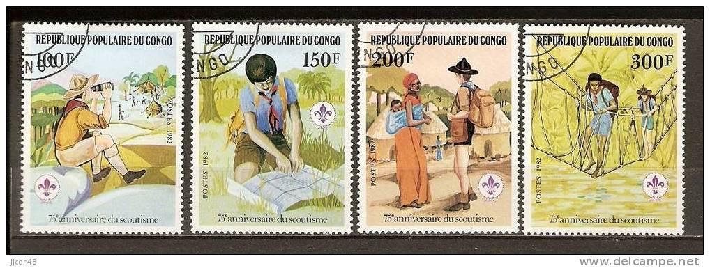 Congo 1982  Boy Scouts.  (o) - Congo - Brazzaville