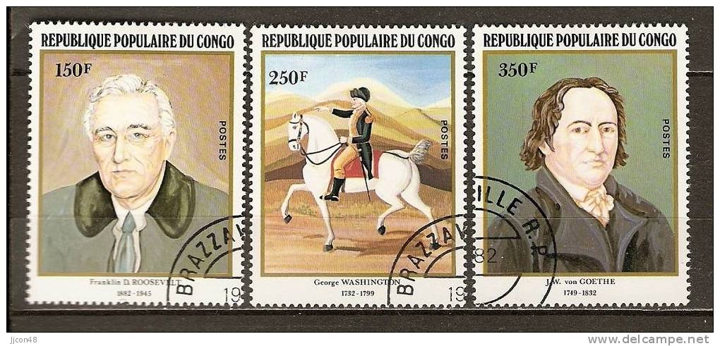 Congo 1982 Anniversaries. (o) - Used