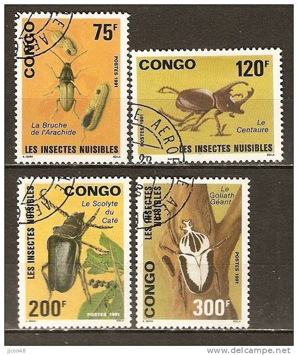 Congo 1991 Harmful Insects. (o) - Used