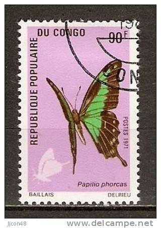 Congo 1971 Butterflies  (o) - Congo - Brazzaville