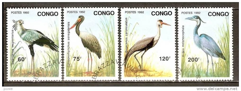 """Congo 1992  """"Birds""""  (o) - Congo - Brazzaville"""