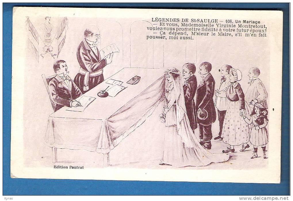LEGENDE DE ST SAULGE UN MARIAGE - Noces