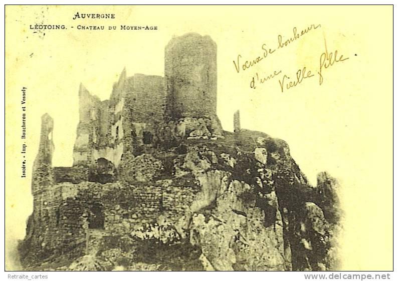 Carte Précurseur - Château De Léotoing- Beau Plan - Frankrijk