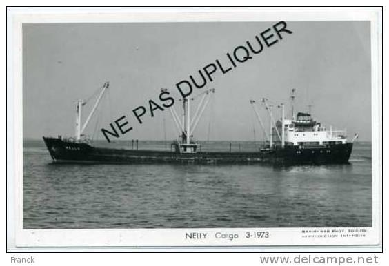"""6925 Cargo (Caboteur) """" NELLY """" (1973) - Armement Lerbret Et Compagnie - Handel"""