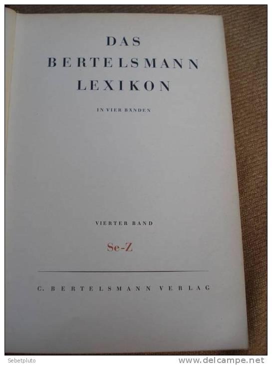 Bertelmann Lexikon Dictionnaire 1950 Allemagne - Dictionnaires