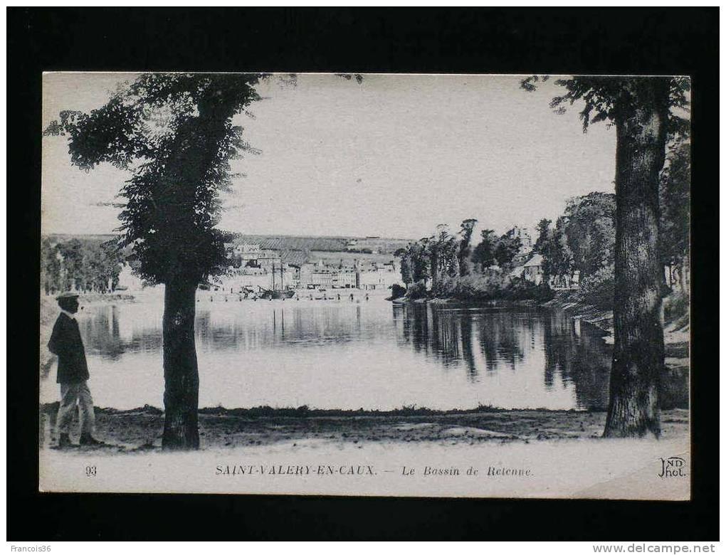 Saint Valery En Caux - Le Bassin De Retenue - CPA Vierge En TB Etat - - Saint Valery En Caux