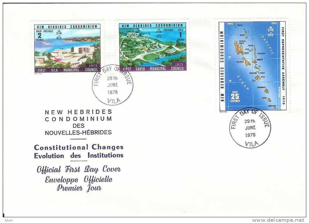 FDC 69  NEW HEBRIDES - POSTE 435 At 437 - - FDC