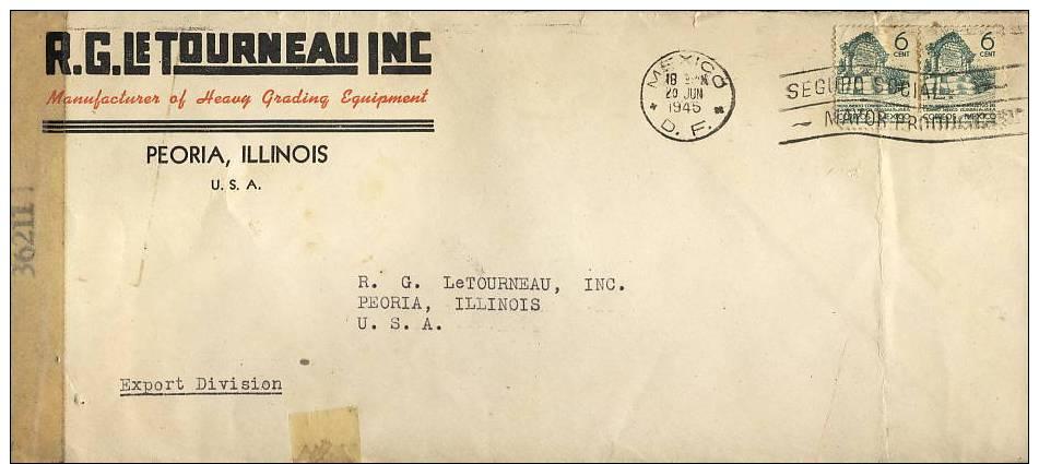 Mexico; Censored Cover To USA 1945 - Mexique