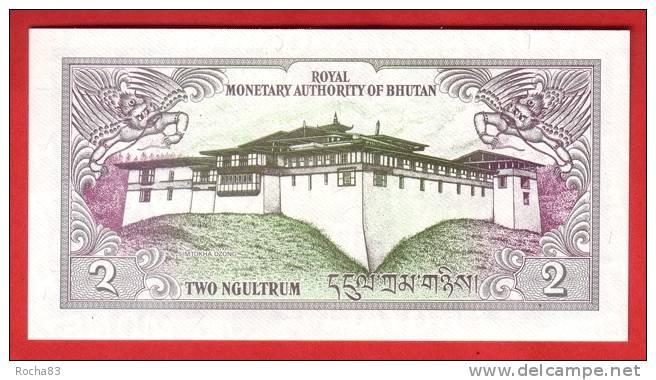 BILLET - BHUTAN - 2 Ngultrum De 1986 - Pick 13 - Bhutan
