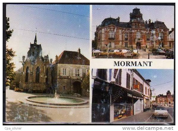 77 MORMANT Multivue, Eglise, Mairie, Tabac, Ed Blondiau, CPSM 10x15, 198? - Mormant
