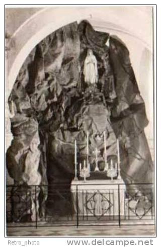 Ressons Sur Matz - Carte-photo, Intérieur De L'église ( Grotte De ND De Lourdes ) - France