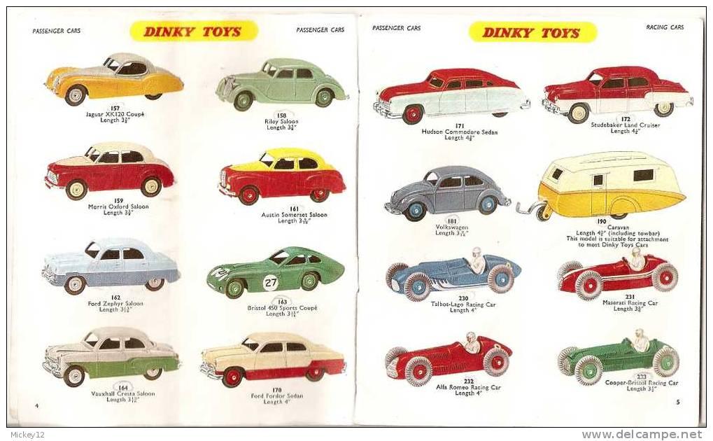 """TRES RARE !!!Petit Catalogue De 1957 Pour """"FOUS"""" De DINKY TOYS, Plus De 200 Références... - Catalogues"""