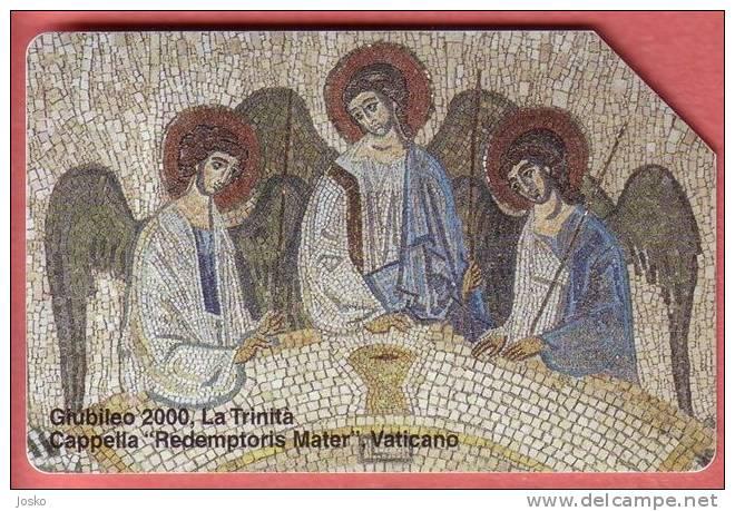 VATICAN  SCV 69  ( L.10.000 ) * Mosaic - Mosaïque - Mosaico - Mosaik * Religion Painting - Tableau - Paintings - Tableau - Vatican