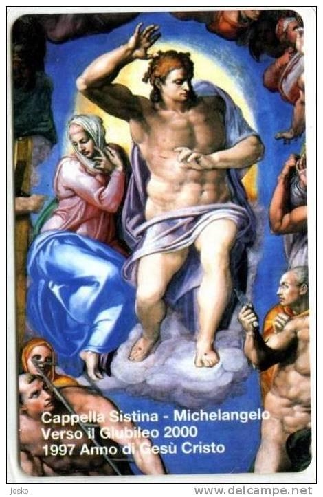 VATICAN SCV 34  ( Mint Card - Lire 10.000 ) ** MICHELANGELO **  Religione Painting Tableau Paintings Tableaux - Vatican