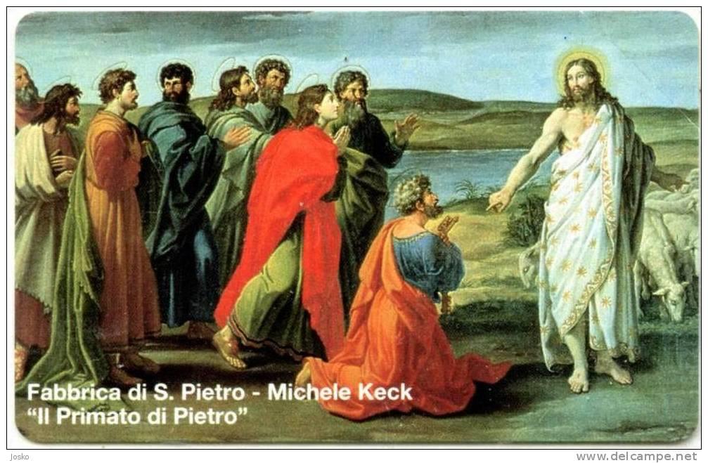 VATICAN SCV 18  ( Mint Card - L. 10.000 ) ** MICHELE KECK **  Religione Painting Tableau Paintings Tableaux - Vatican