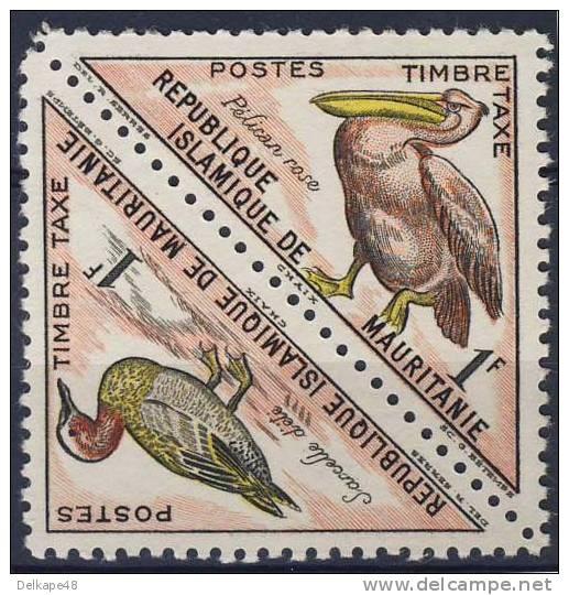 Mauritanie Mauritania 1963 Mi 28 /9 YT T36 /7 - Tax ** - Pelecanus Rufescens + Anas Querquedula - Mauritanië (1960-...)