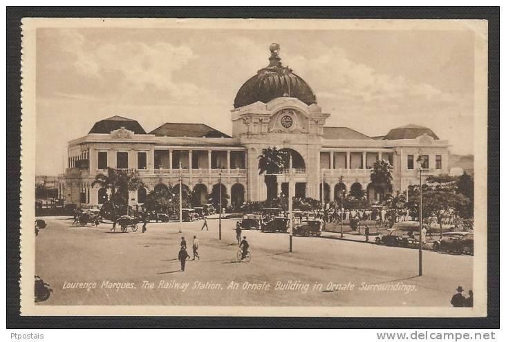 MOÇAMBIQUE Mozambique - Lourenço Marques - The Railway Station. An Ornate Building In Ornate Surroundings - Mozambique