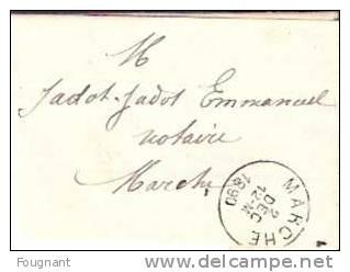 BELGIQUE:Marche. (Luxembourg):1890:Lettre De MARCHE Pour MARCHE.Belle Oblitération:Marche. - België