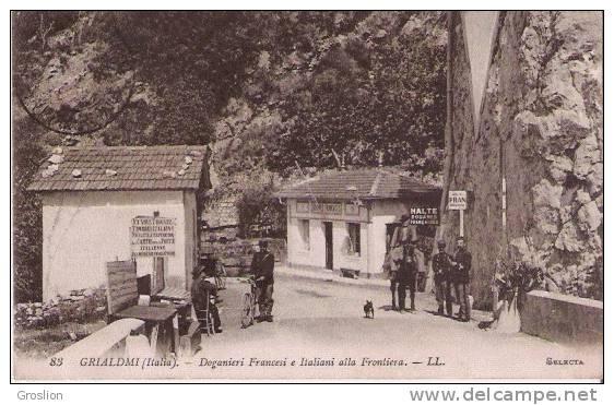 GRIALDMI (ITALIA) 83 DOGANIERI FRANCESI E ITALIANI ALLA FRONTIERA LL - Douane