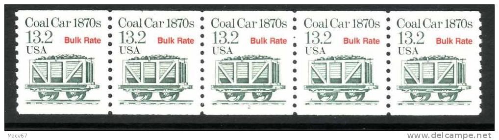 U.S. 2259X5  Plate 2    **  COAL CAR - Roulettes (Numéros De Planches)