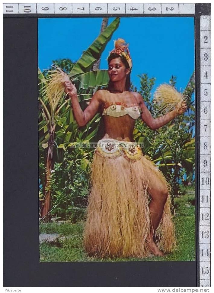 M9789b TAHITI  TAHITIAN GIRL IN ATTRACTIVE BORA BORA COSTUME F/P - Tahiti