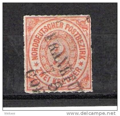 D-Ndp006a / Norddeutscher Postbezirk, Mi.Nr. 8, Bahnpost Frankfurt-Cöln - Norddeutscher Postbezirk