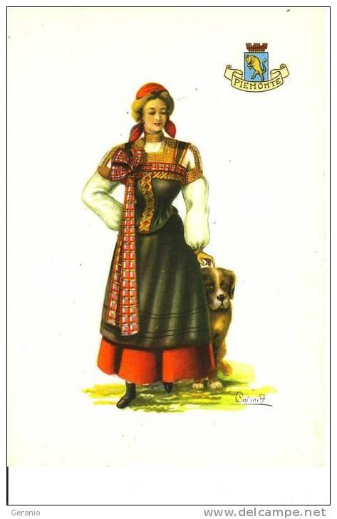 COSTUMI TURISTICI ITALIANI 1950 PIEMONTE NV - Costumi