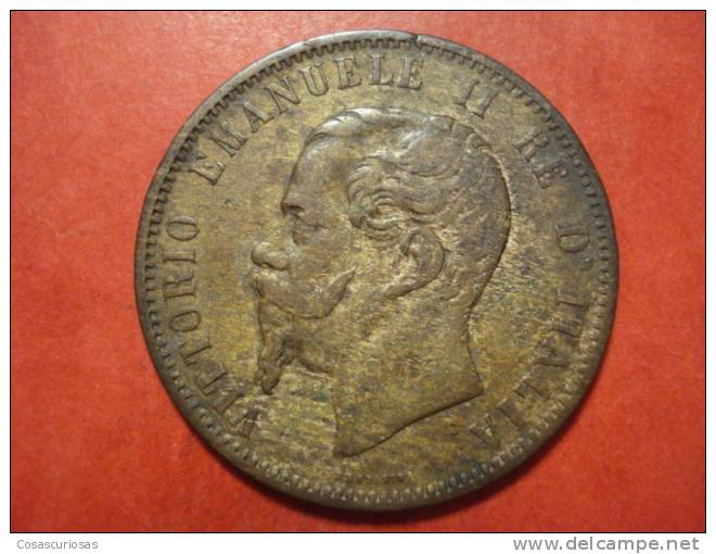 3116 ITALIA ITALY  10 CENTESINI  V.E. II     AÑO / YEAR   1866  M     BB - 1861-1946 : Kingdom