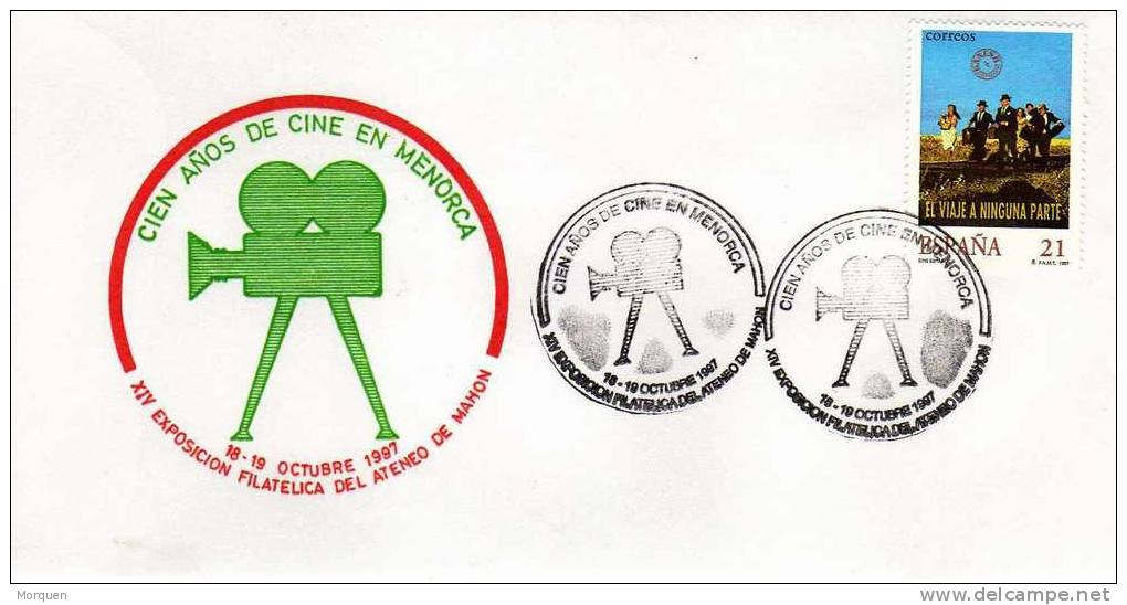 Carta Tematica  CINE España (Mahon) 1997. Cinema. Film - 1931-Hoy: 2ª República - ... Juan Carlos I