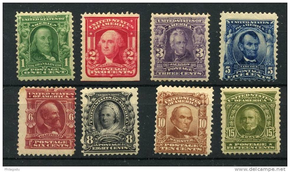 USA  Yvert 144/151 ++ Mint N.H.  Sans Charnière  Cote 900 Euros  Scott # 300--309 Mint NH  Cv 850$ - Unused Stamps