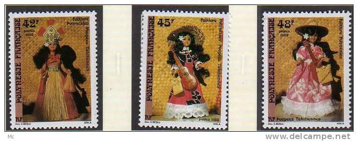 Polynésie N° 307 / 309 Luxe ** - Französisch-Polynesien